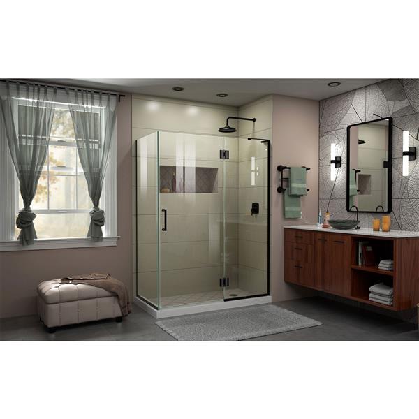 DreamLine Unidoor-X Shower Enclosure - 3-Panel - 48.38-in x 34-in x 72-in - Satin Black