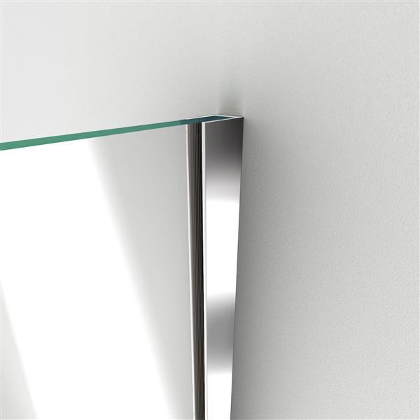 DreamLine Unidoor-X Shower Enclosure - 3 Glass Panels - 48-in x 34.38-in x 72-in - Brushed Nickel