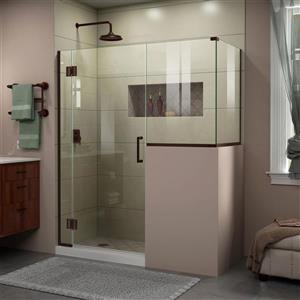 DreamLine Unidoor-X Glass Shower Enclosure - 4-Panel - 59-in x 36.38-in x 72-in - Oil Rubbed Bronze