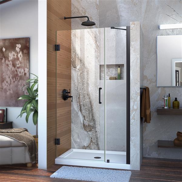 DreamLine Unidoor Shower Door - 42-43-in x 72-in - Satin Black