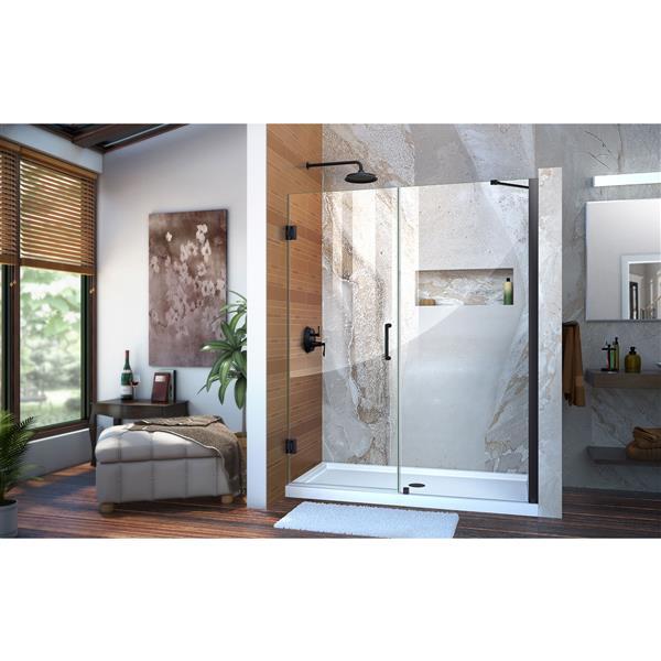 DreamLine Unidoor Shower Door - 58-59-in x 72-in - Satin Black