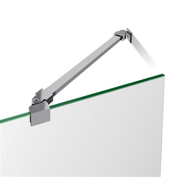 DreamLine Unidoor Shower Door - Clear Glass - 42-43-in x 72-in - Brushed Nickel