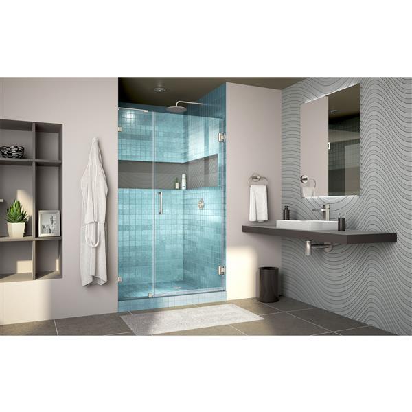 DreamLine Flex Shower Enclosure - 44.44-48.44-in x 72-in - Chrome