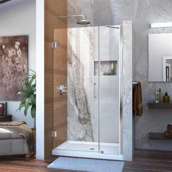DreamLine Unidoor Shower Door - 40-41-in x 72-in - Chrome