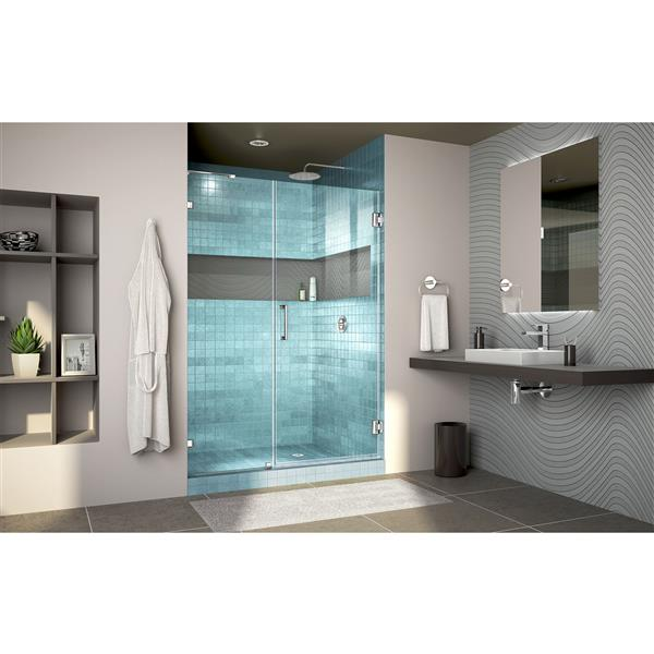 DreamLine Unidoor Alcove Shower Door - 41-42-in x 72-in - Brushed Nickel