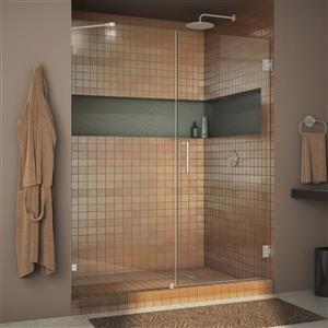 Porte de douche en verre Unidoor Lux de DreamLine, 48 po x 72 po, nickel brossé