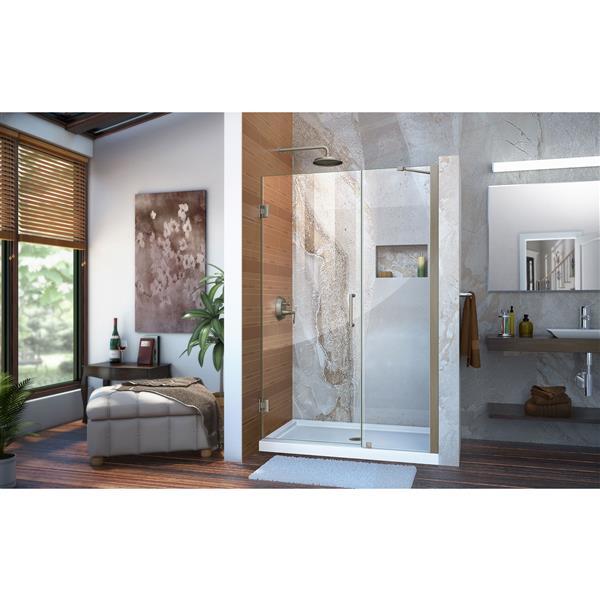 DreamLine Unidoor Shower Door - 44-45-in x 72-in - Brushed Nickel