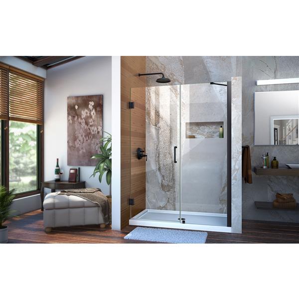 DreamLine Unidoor Shower Door - 51-52-in x 72-in - Satin Black