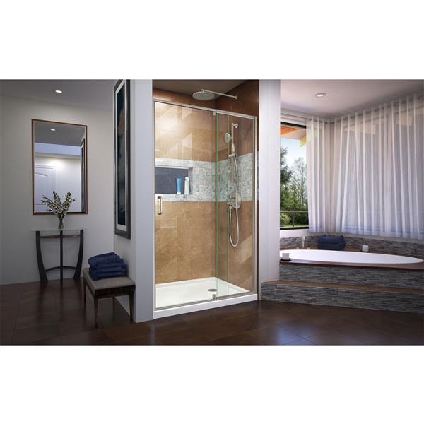 DreamLine Unidoor-X Shower Enclosure - 60-in x 72-in - Satin Black