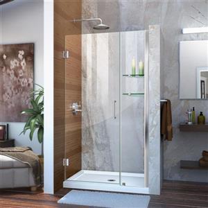 Porte de douche sans cadre Unidoor de DreamLine, 39-40 po x 72 po, chrome