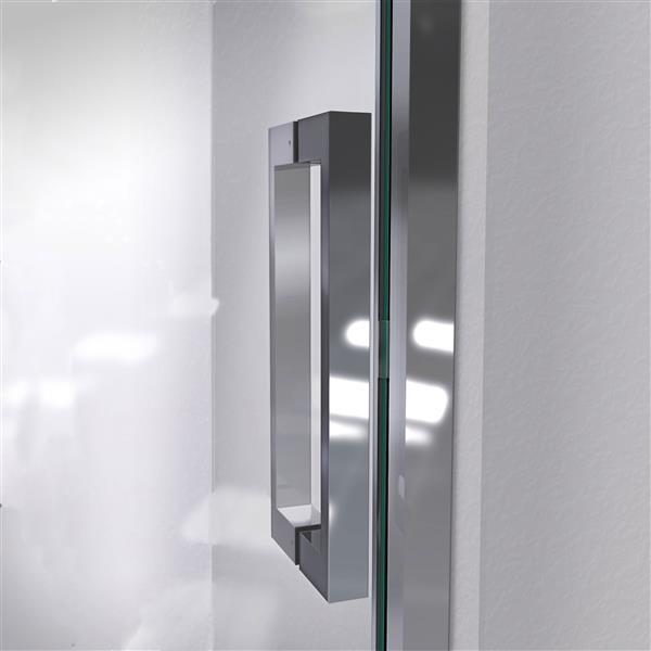 DreamLine Unidoor Shower Door - Clear Glass - 55-56-in x 72-in - Brushed Nickel