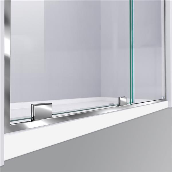 DreamLine Mirage-Z Shower Door - 56-60-in x 72-in - Chrome