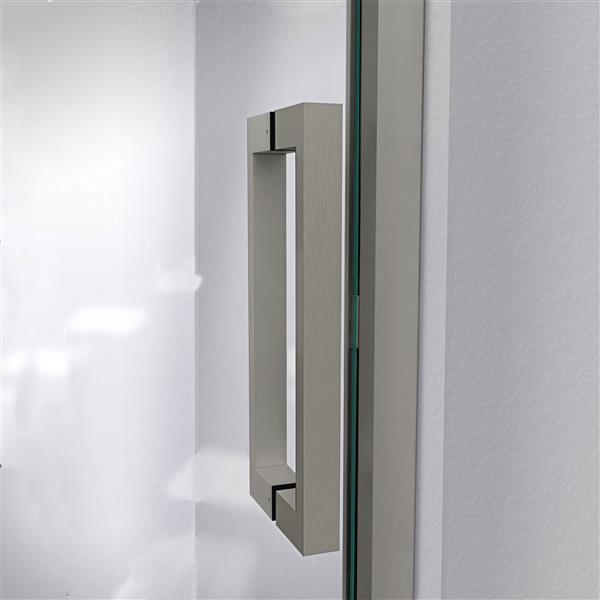 DreamLine Unidoor Shower Door - Clear Glass - 46-47-in x 72-in - Satin Black