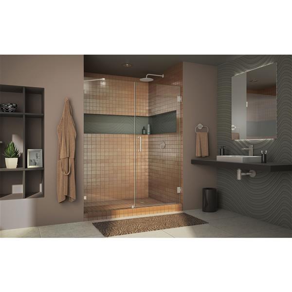 DreamLine Mirage-Z Sliding Bathtub Door - 56-60-in x 58-in - Brushed Nickel