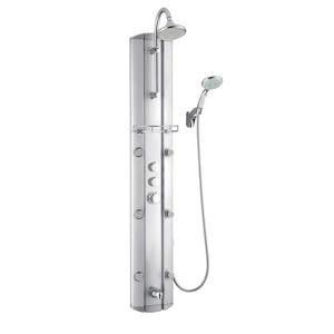 DreamLine 6-Spray Shower Panel System with Hand Shower- Satin Grey