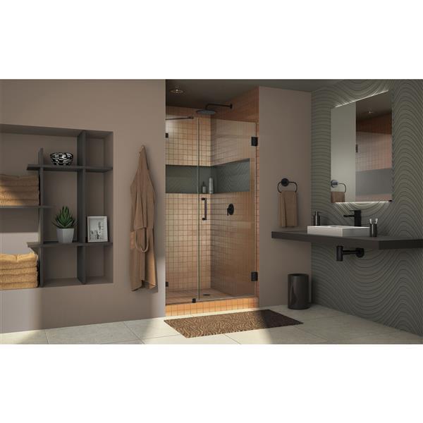 DreamLine Unidoor Frameless Shower Door - 48-49-in x 72-in - Oil Rubbed Bronze
