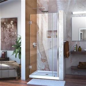 DreamLine Unidoor Shower Door - 32-33-in x 72-in - Chrome