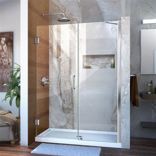 DreamLine Unidoor Shower Door - 49-50-in x 72-in - Chrome