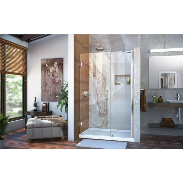 DreamLine Unidoor Shower Door - 45-46-in x 72-in - Chrome