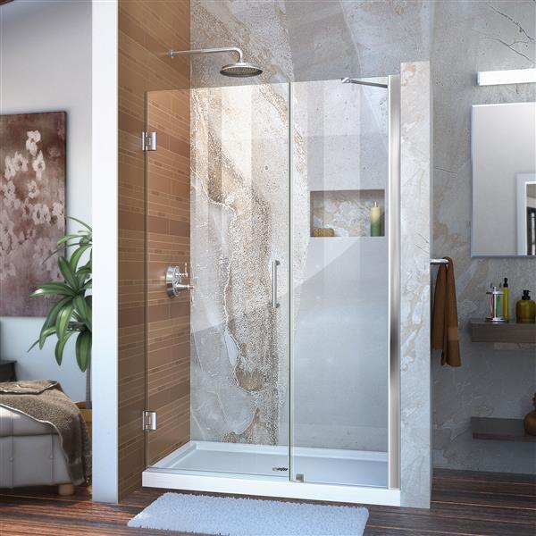 DreamLine Unidoor Shower Door - 47-48-in x 72-in - Chrome