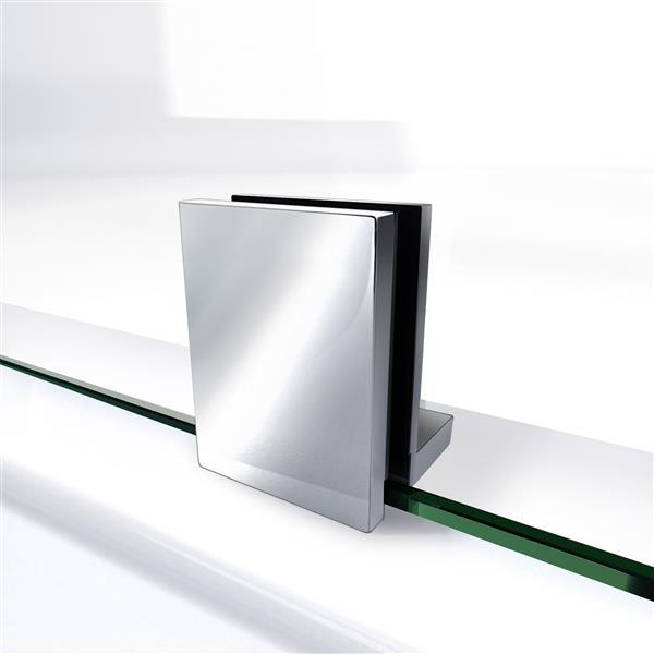 Porte de douche Unidoor Lux de DreamLine, 32 po x 72 po, nickel brossé