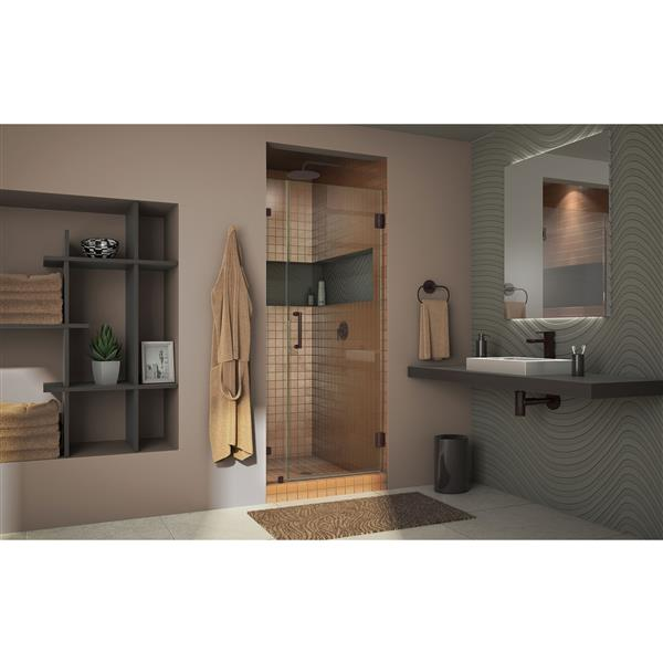 DreamLine Unidoor Shower Door - 27-in x 72-in - Brushed Nickel