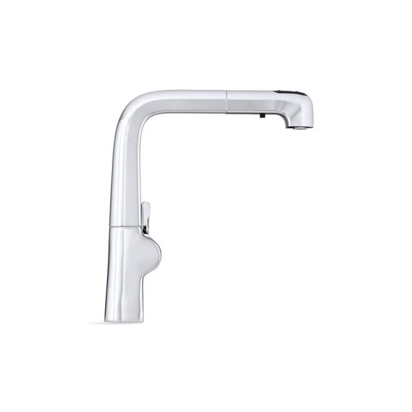 KOHLER Evoke single-hole kitchen sink faucet - Polished Chrome