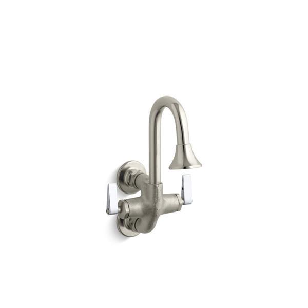 KOHLER Cannock double lever handle wash sink faucet - Rough Plate