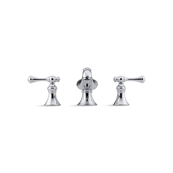 KOHLER Revival widespread bathroom sink faucet - Vibrant Brushed Nickel