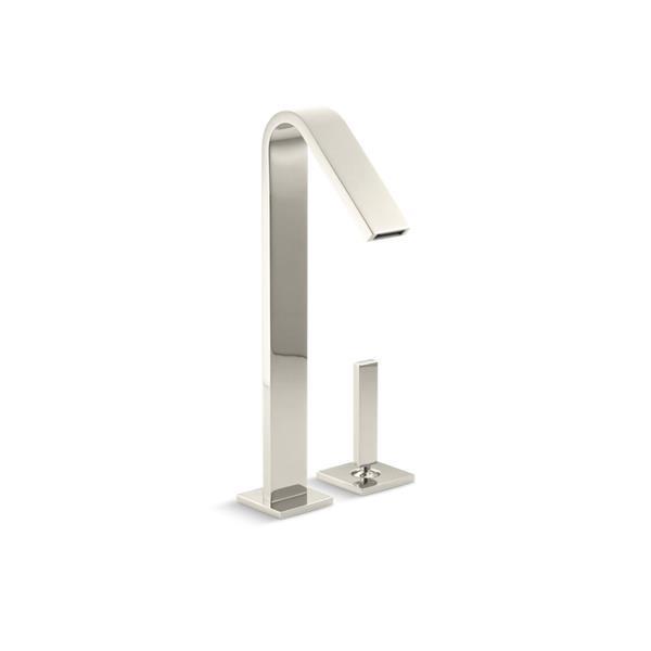 KOHLER Loure tall single-handle bathroom sink faucet - Vibrant Polished Nickel