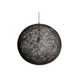 """Plata Decor Rope Pendant Light - Black - 12"""""""