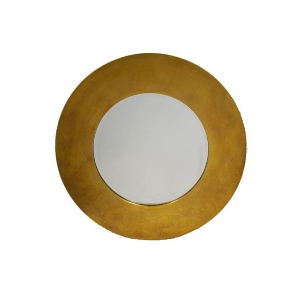 Plata Decor Circle Gold Mirror - 36-in H x 35-in W