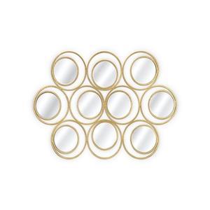 Plata Decor Toruk Gold Mirror - 55-in x 38-in