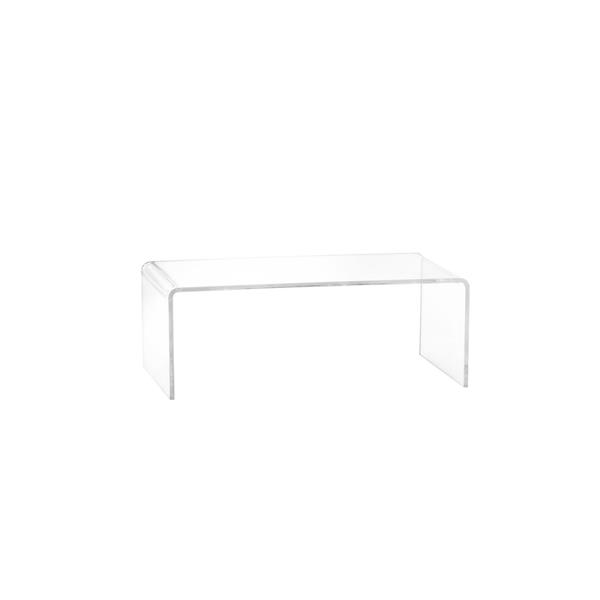 Plata Decor Acrylic Coffee Table - Clear - 39-in x 16-in x 16-in