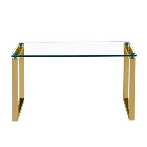 Plata Decor Gen Coffee Table - Gold and Glass - 39-in