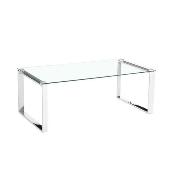 Plata Decor Gen Coffee Table - Metal Chrome/White - 35-in