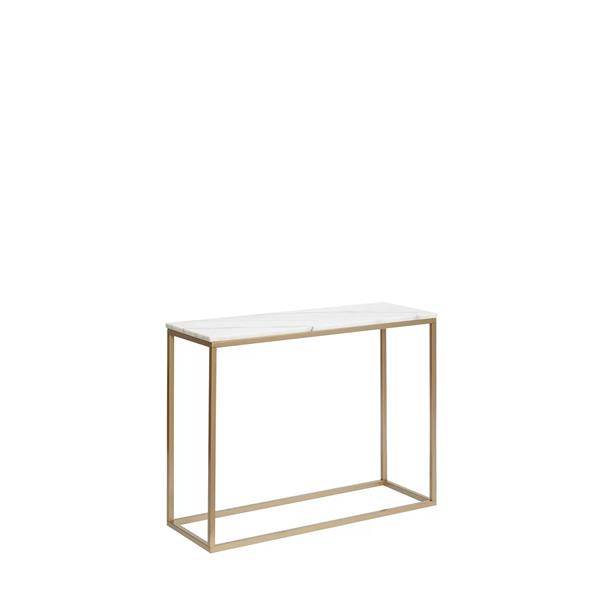 Plata Decor Boca Marble Console - Gold and Faux Marble - 36-in