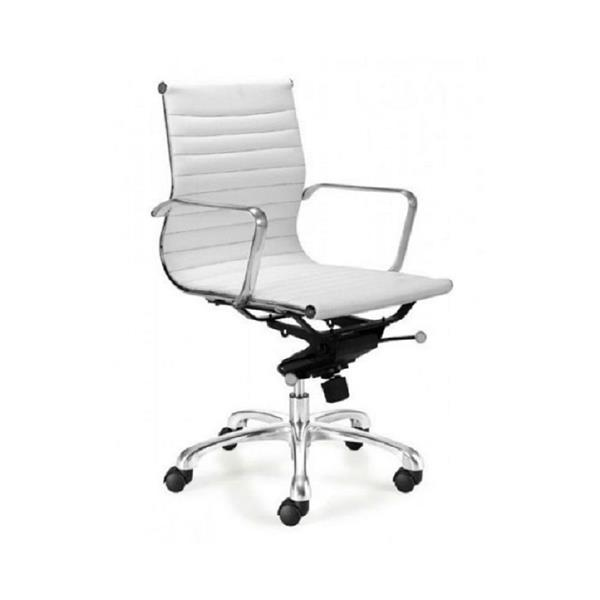 Plata Decor Low Back Executive Chair - White