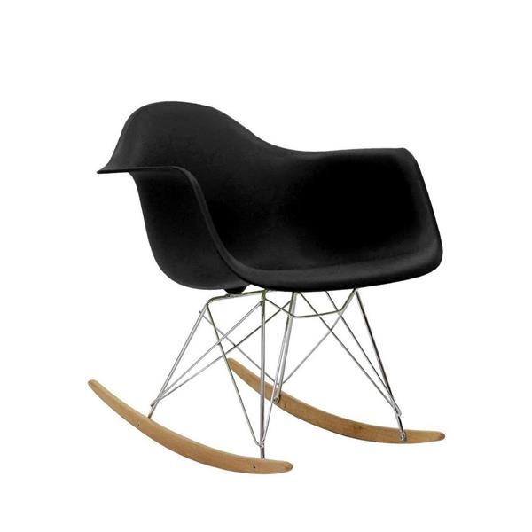 Plata Decor Eiffel Bucket Rocker Chair - Black