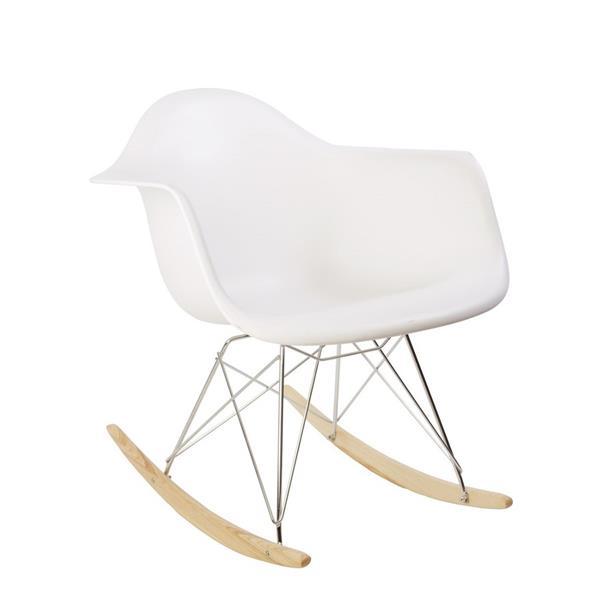 Plata Decor Eiffel Bucket Rocker Chair - White