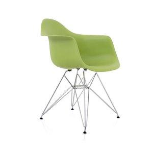 Plata Import Eiffel Bucket Chair - Green and Chrome