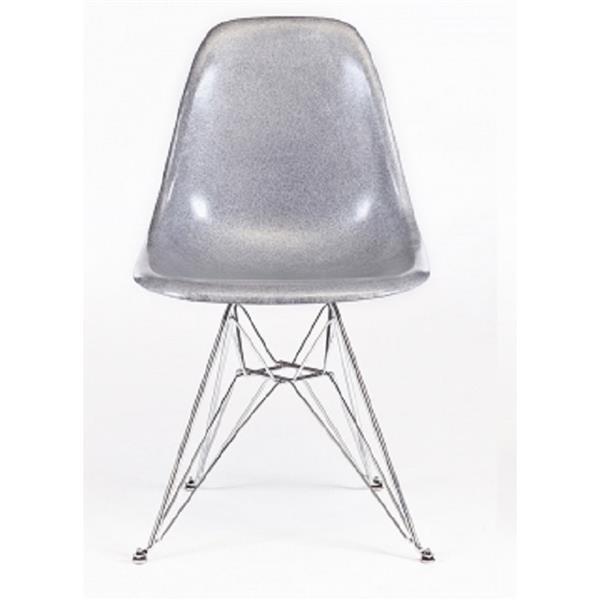 Plata Decor Eiffel Dining Chair - Silver and Chrome Base