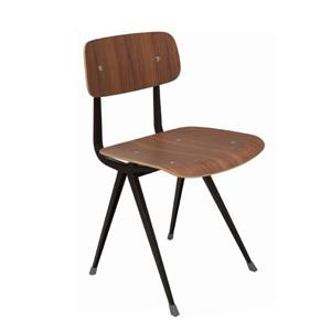 Plata Decor Prime Dining Chair - Wood and Black Metal