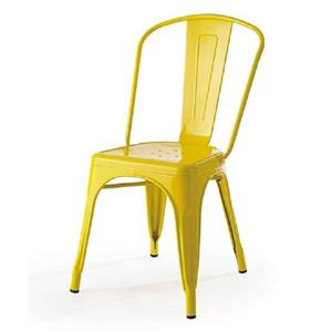 Plata Decor Tolix Dining Chair - Yellow Steel
