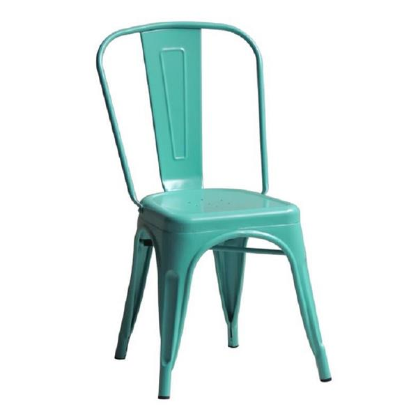 Plata Decor Tolix Dining Chair - Turquoise Steel