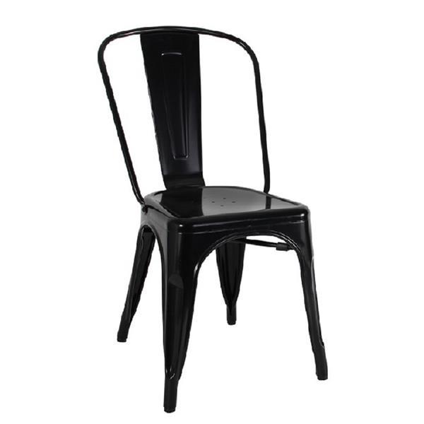 Plata Decor Tolix Dining Chair - Black Steel