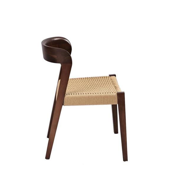Plata Decor Ronald II Dining Chair - American Ash Stain Walnut