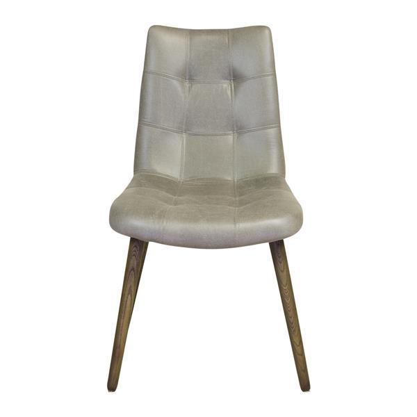 Plata Decor Trinindad Dining Chair - Faux Leather - Grey