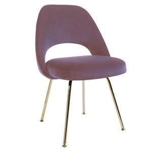Plata Decor Sand Dining Chair - Pink Velvet and Gold Frame