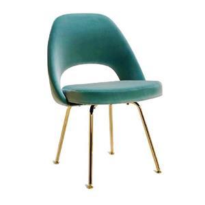 Plata Decor Sand Dining Chair - Green Velvet and Gold Frame